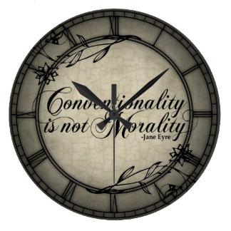 La convencionalidad no es moralidad reloj de pared