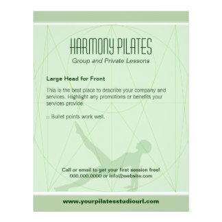 La convergente alinea el aviador de Pilates Tarjetas Publicitarias