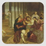 La conversión de Maria Magdalena, 1546-7 Pegatinas Cuadradas Personalizadas