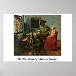 La copa de vino de Juan Vermeer Posters