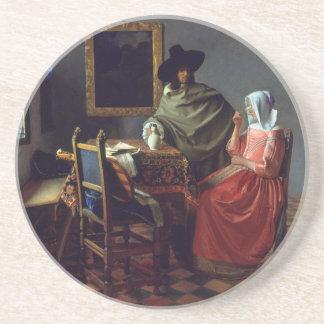 La copa de vino, enero Vermeer Posavasos Manualidades