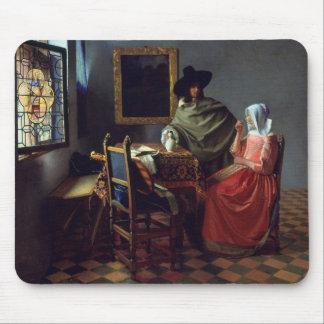 La copa de vino, enero Vermeer Alfombrillas De Raton