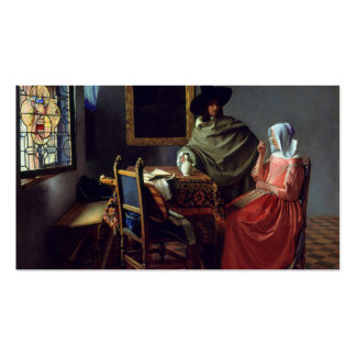 La copa de vino, enero Vermeer Plantilla De Tarjeta De Visita