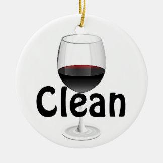 """La copa de vino """"limpia/"""" ornamento sucio adornos"""