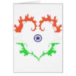 la corazón-India Felicitacion