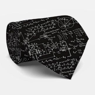 La corbata negra de la matemáticas de los hombres