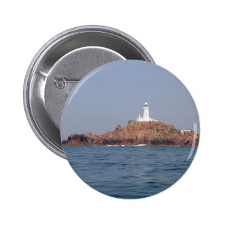 La Corbiere Lighthouse On South Western Point Of J Pinback Buttons