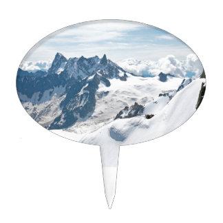 ¡La cordillera de las montañas - atontando! Decoración Para Tarta