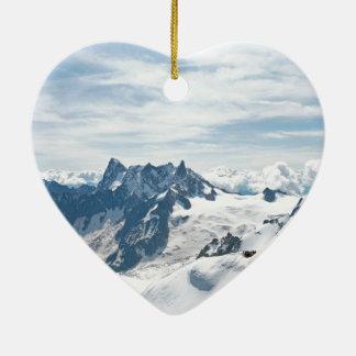 ¡La cordillera de las montañas - atontando! Adorno De Cerámica En Forma De Corazón
