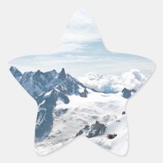¡La cordillera de las montañas - atontando! Pegatinas Forma De Estrellaes Personalizadas