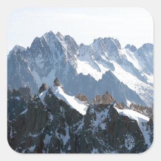 ¡La cordillera de las montañas - atontando! Pegatina Cuadrada