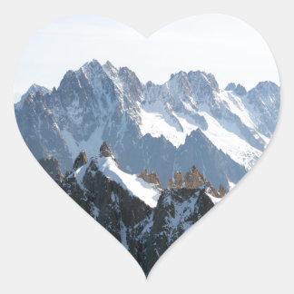 ¡La cordillera de las montañas - atontando! Pegatina En Forma De Corazón