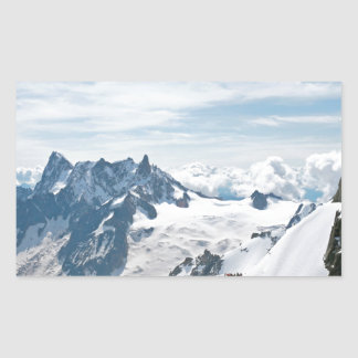 ¡La cordillera de las montañas - atontando! Pegatina Rectangular