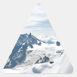 ¡La cordillera de las montañas - atontando! Pegatina Triangular