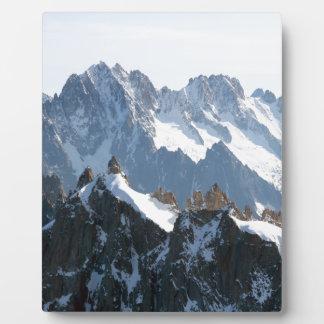 ¡La cordillera de las montañas - atontando Placa De Madera