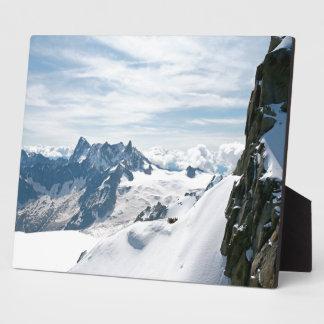 ¡La cordillera de las montañas - atontando Placa Para Mostrar