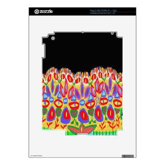 La corona colorida añade el regalo divertido de calcomanía para iPad 2
