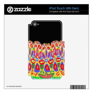 La corona colorida añade el regalo divertido de iPod touch 4G skin