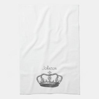 La corona de la reina clásica toalla de mano