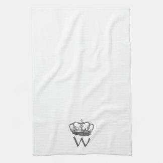 La corona de la reina clásica toallas de mano