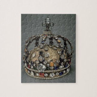 La corona de Louis XV, 1722 (plata dorada, replac Puzzle