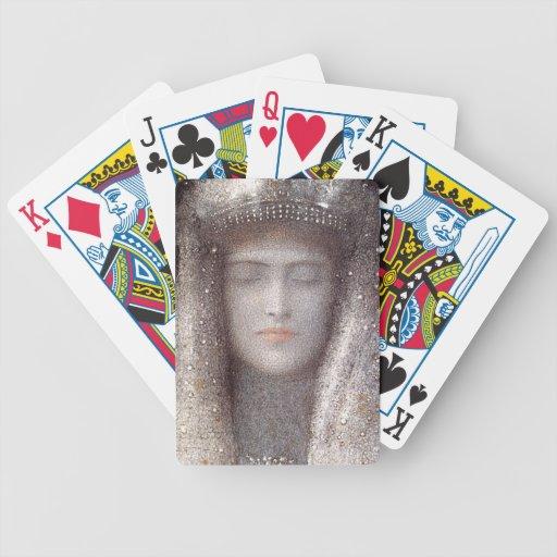 La corona de plata de la plata de la tiara - por O Cartas De Juego