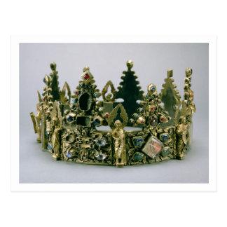 La corona de St. Louis, siglo XIII (plata-cerda Tarjetas Postales