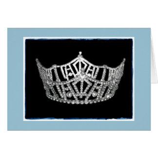 La corona del estilo de Srta. América le agradece Tarjeta Pequeña
