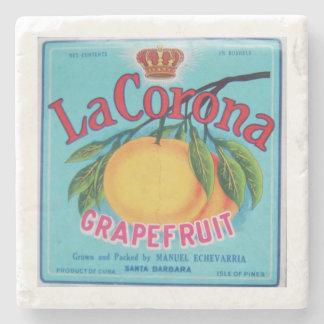 La Corona Grapefruit Marble Coaster