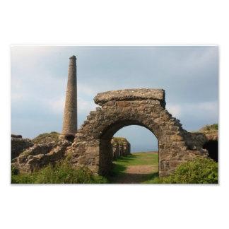 La corona mina Botallack Cornualles Inglaterra Impresiones Fotograficas