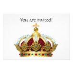 La corona real Jeweled invita Invitación