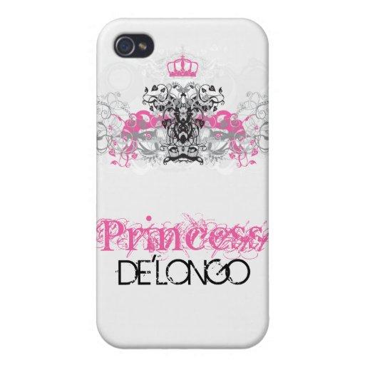 La corona rosada Filigr del remolino personalizó l iPhone 4 Fundas