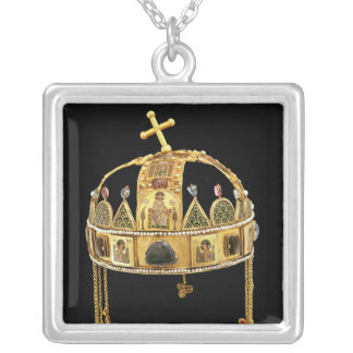 La corona santa de Hungría, 11mo-12mo siglo Colgante Cuadrado