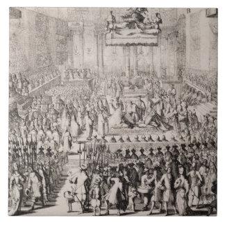 La coronación de Guillermo del naranja (1650-1702) Tejas Ceramicas