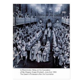 La coronación de H.M. Queen Elizabeth Tarjeta Postal