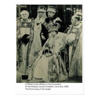 La coronación de H.M. Queen Elizabeth Postales