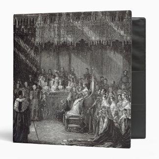"""La coronación de la reina carpeta 1 1/2"""""""