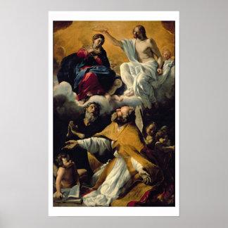 La coronación de la Virgen con los SS. Guillermo d Posters