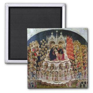 La coronación de la Virgen en el paraíso, 1438 Imán Cuadrado