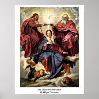 La coronación de Maria de Diego Velázquez Impresiones
