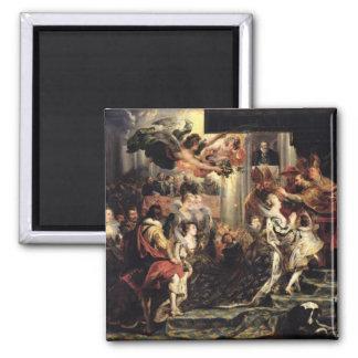 La coronación de Marie de Medici en el St. Imán Para Frigorífico