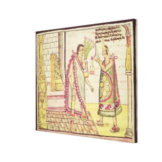 La coronación de Montezuma II Impresion En Lona