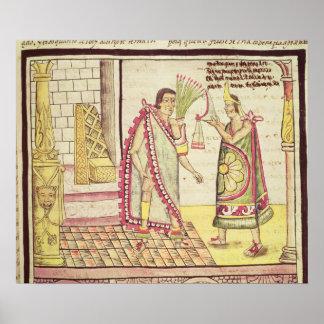 La coronación de Montezuma II Póster