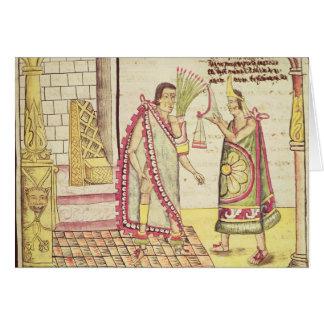 La coronación de Montezuma II Tarjeta De Felicitación