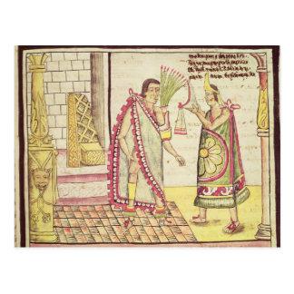La coronación de Montezuma II Tarjeta Postal