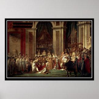 La coronación de Napoleon como emperador del franc Poster
