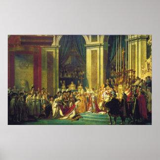 La coronación de Napoleon de Jacques Louis David Poster