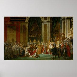 La coronación de Napoleon Posters