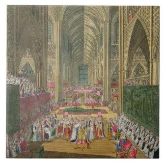 La coronación de rey James II (1633-1701) de a Azulejos Cerámicos