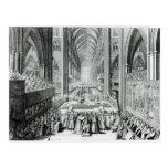 La coronación de rey James II c.1685 Postal